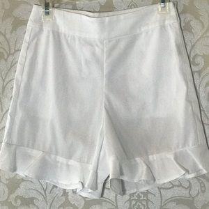 Walter Baker white Saks Fifth XS ruffles shorts